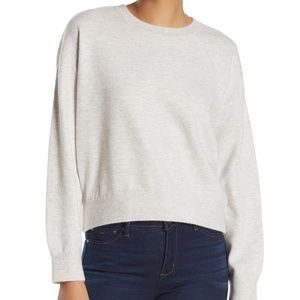 VINCE Double Layer Crew Neck Cashmere Sweater